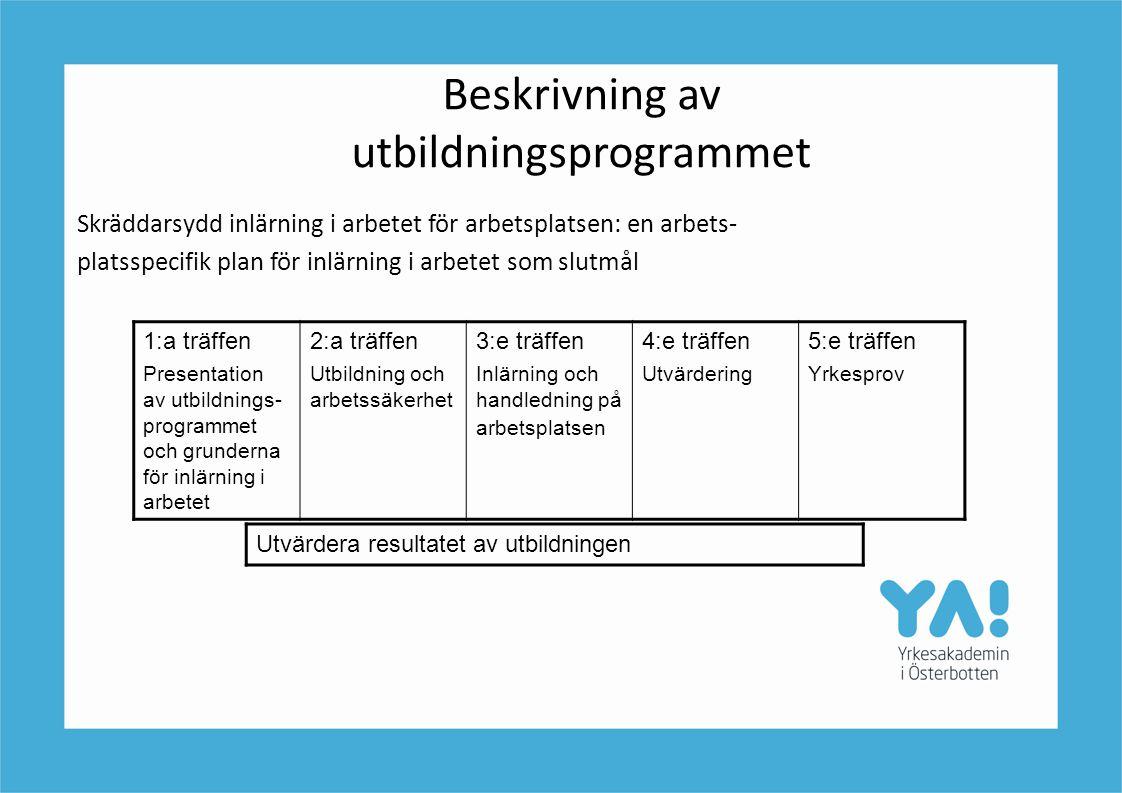 Beskrivning av utbildningsprogrammet