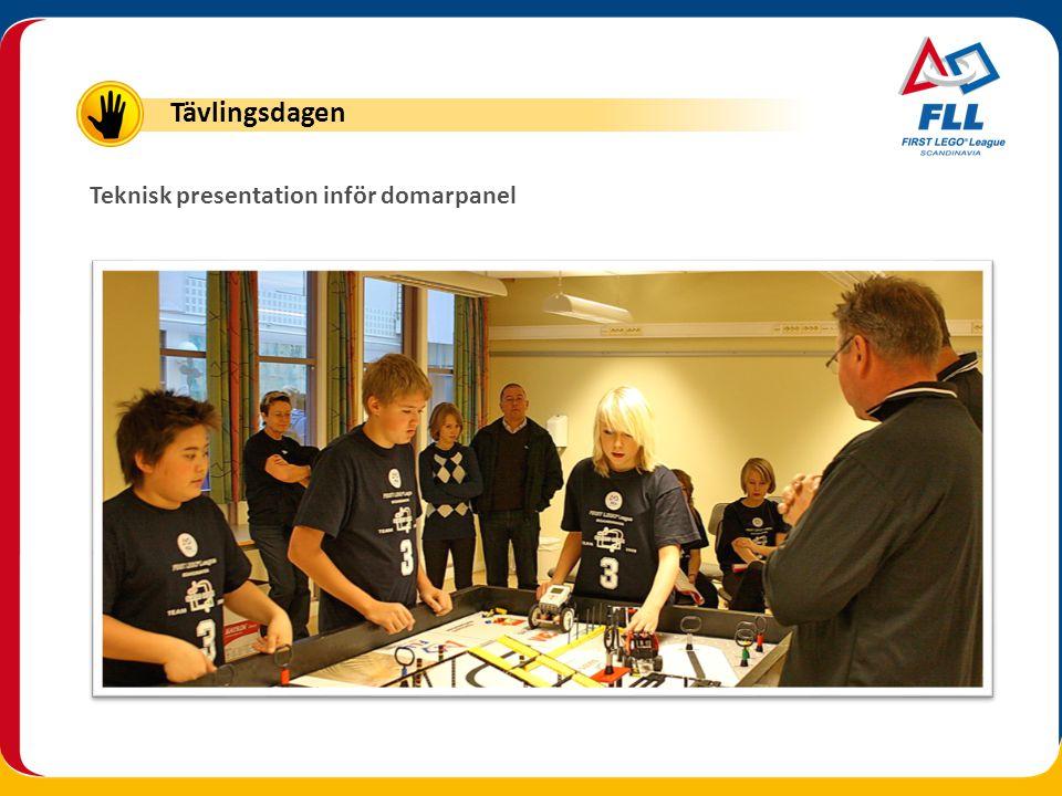 Tävlingsdagen Teknisk presentation inför domarpanel