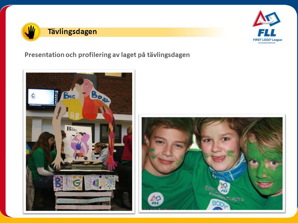 Tävlingsdagen Presentation och profilering av laget på tävlingsdagen