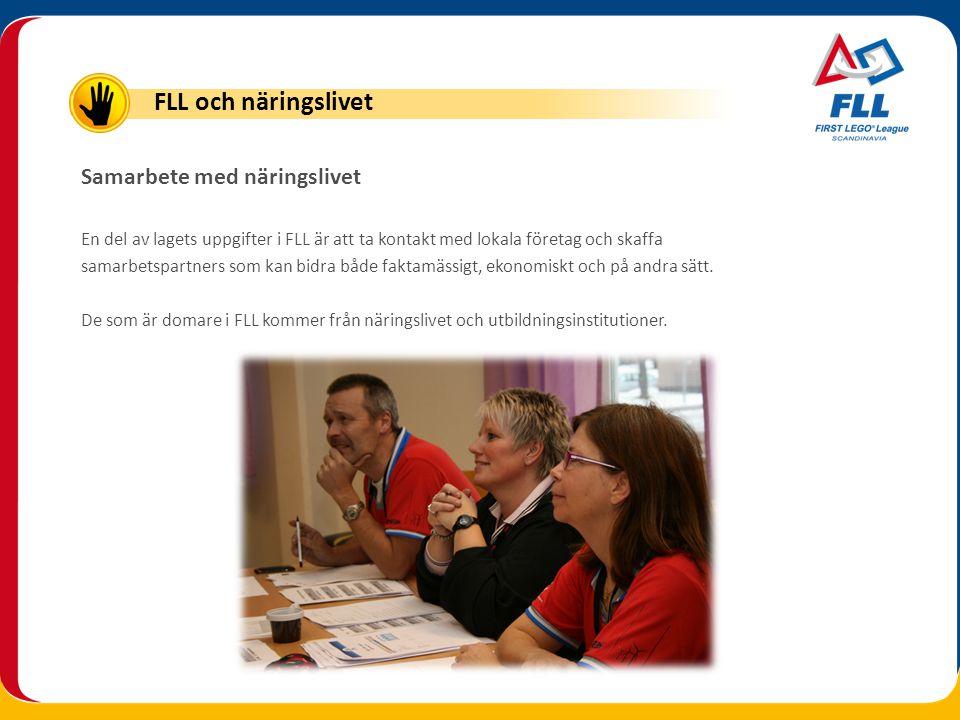 FLL och näringslivet Samarbete med näringslivet