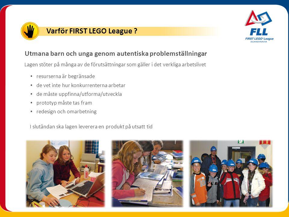 Varför FIRST LEGO League
