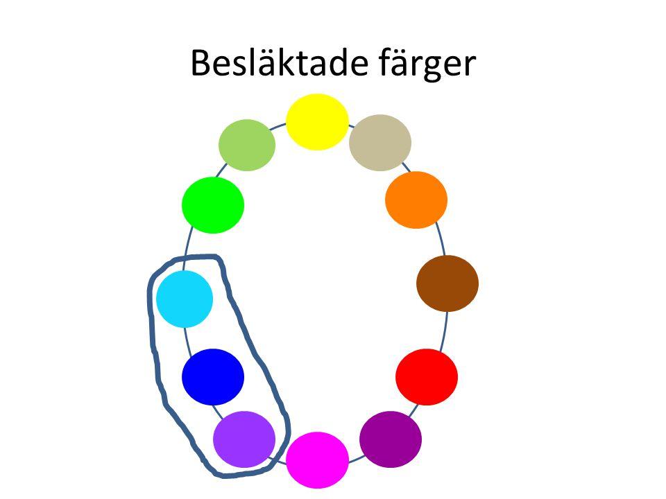 Besläktade färger