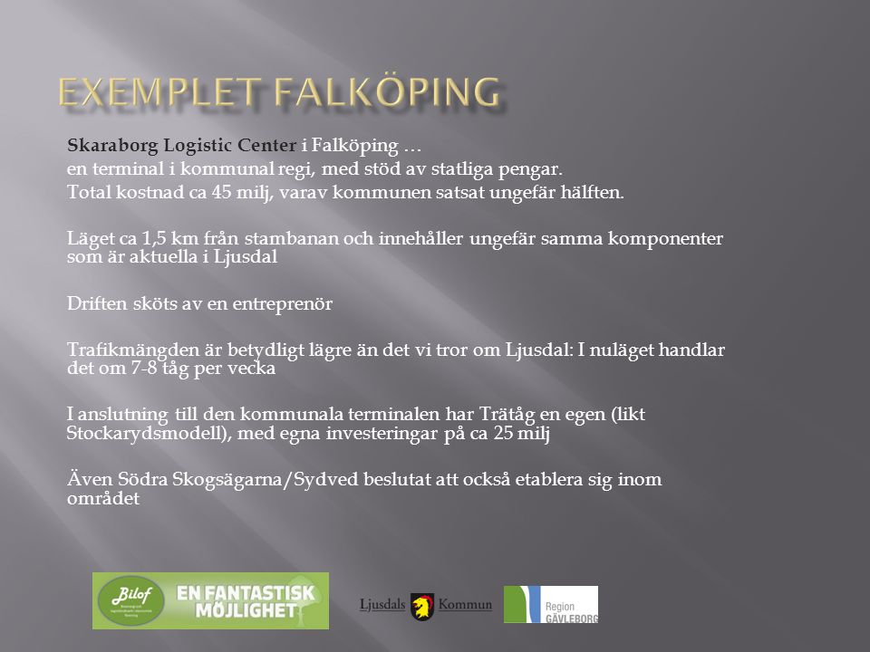 Exemplet falköping Skaraborg Logistic Center i Falköping …