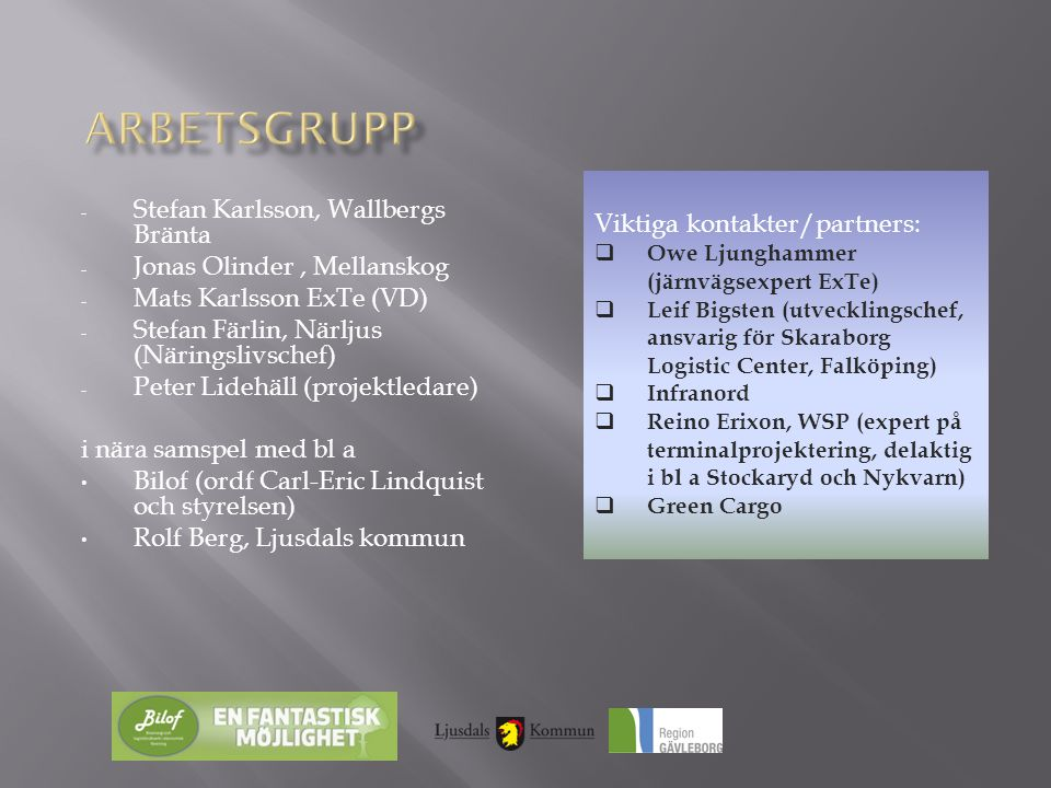 Arbetsgrupp Stefan Karlsson, Wallbergs Bränta
