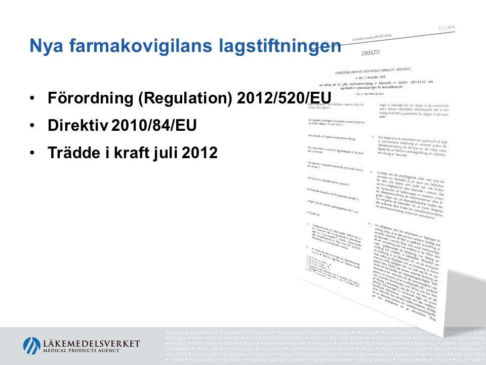 Nya farmakovigilans lagstiftningen