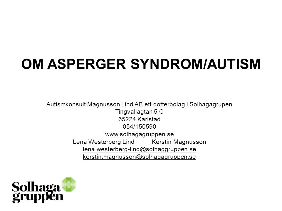 OM ASPERGER SYNDROM/AUTISM