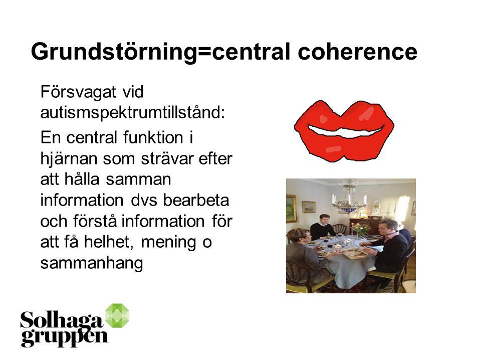 Grundstörning=central coherence