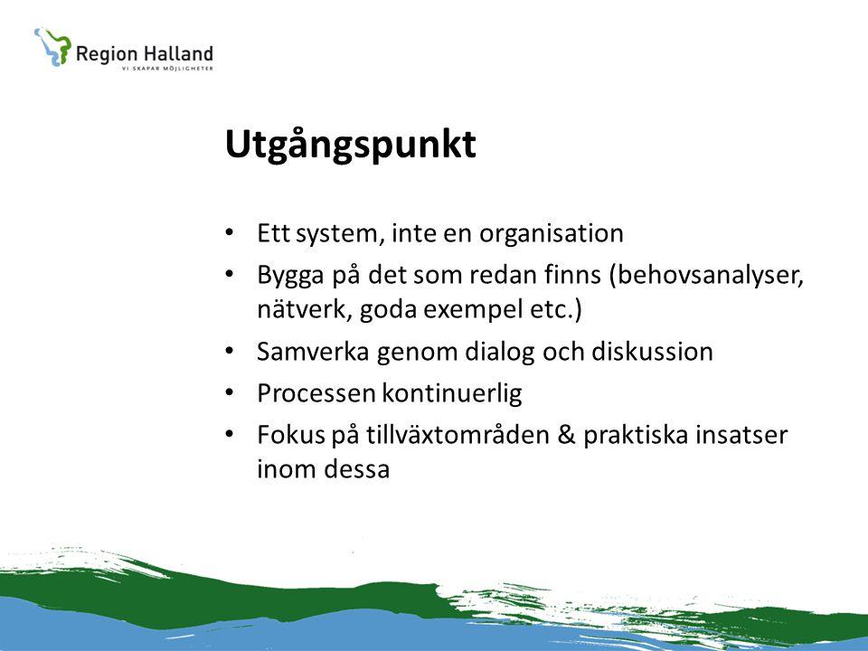 Utgångspunkt Ett system, inte en organisation