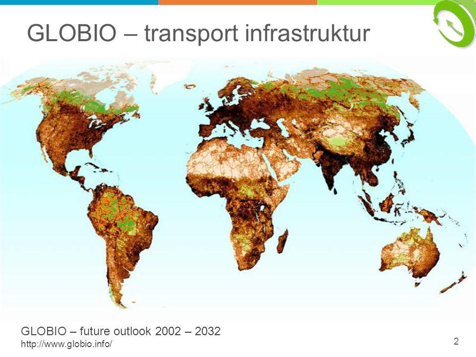 GLOBIO – transport infrastruktur