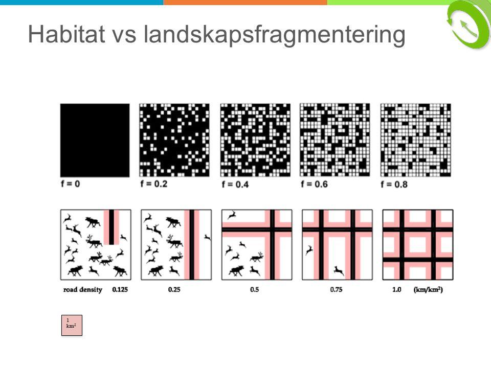 Habitat vs landskapsfragmentering