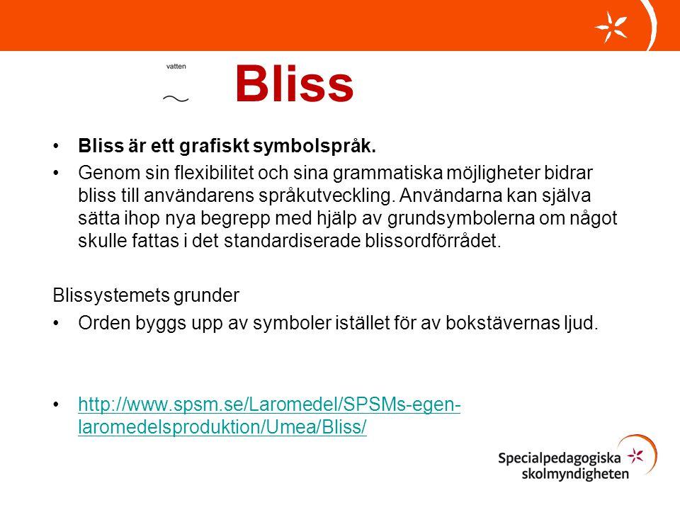 Bliss Bliss är ett grafiskt symbolspråk.