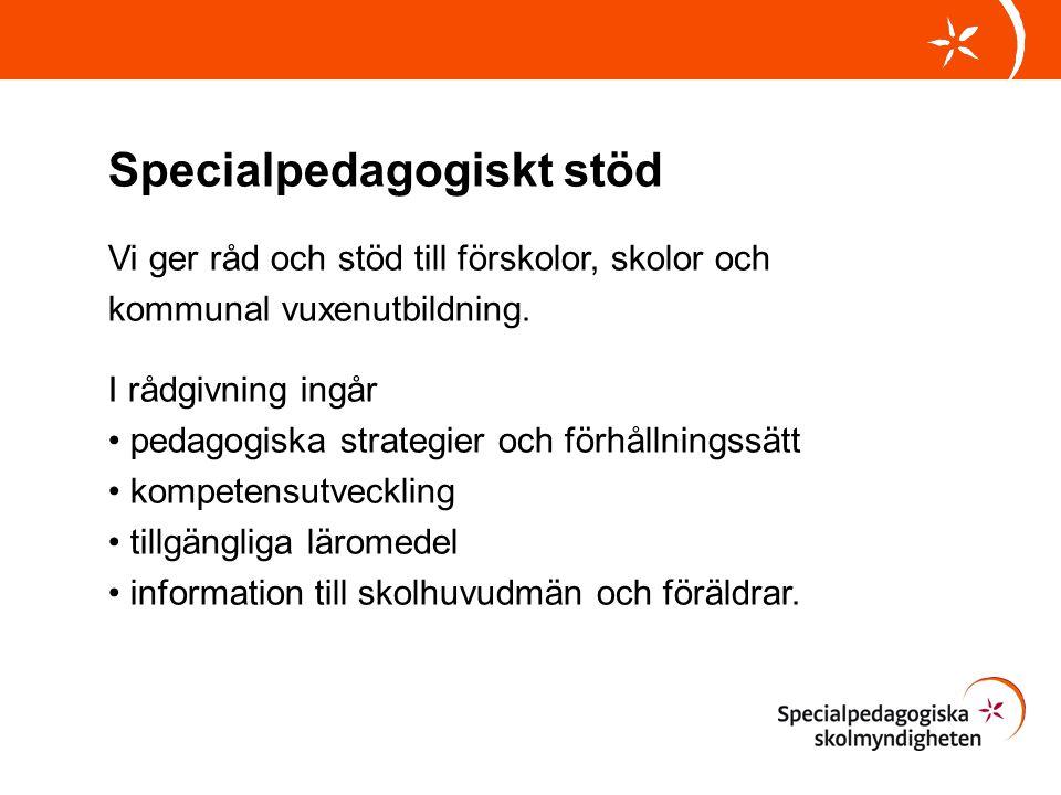 Specialpedagogiskt stöd