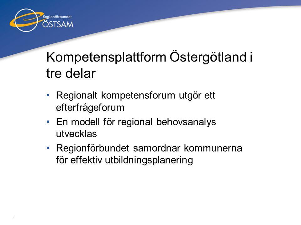 Kompetensplattform Östergötland i tre delar