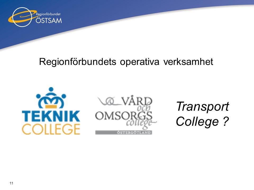 Regionförbundets operativa verksamhet