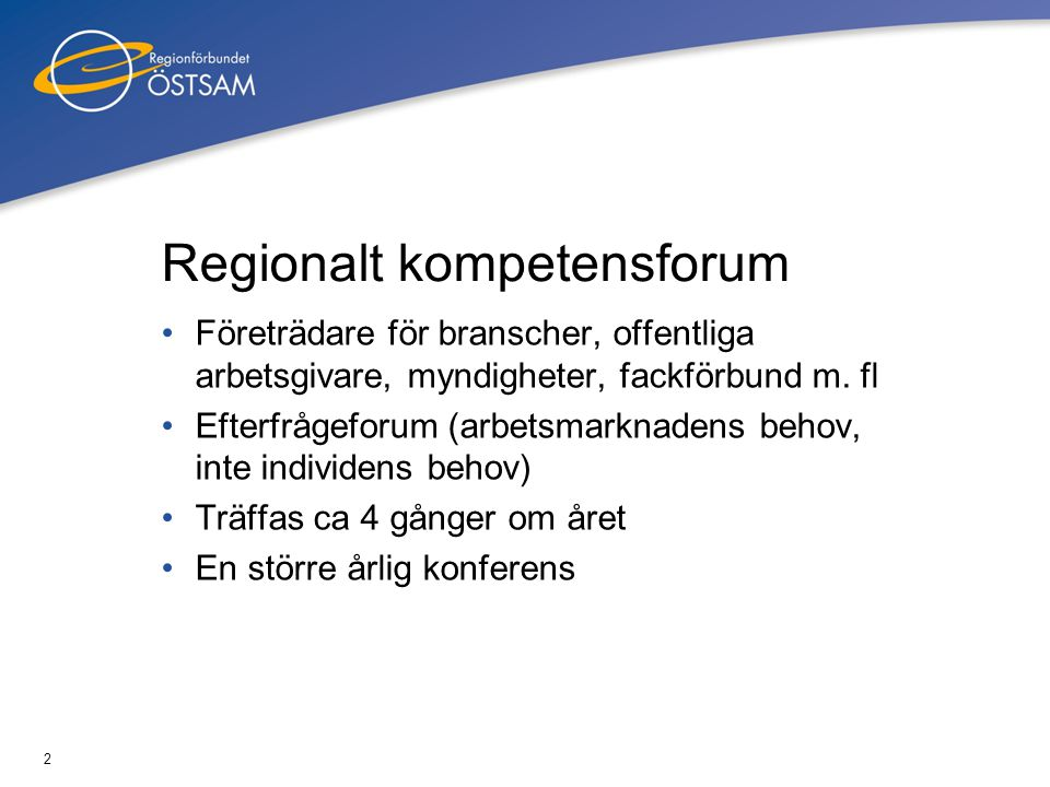 Regionalt kompetensforum