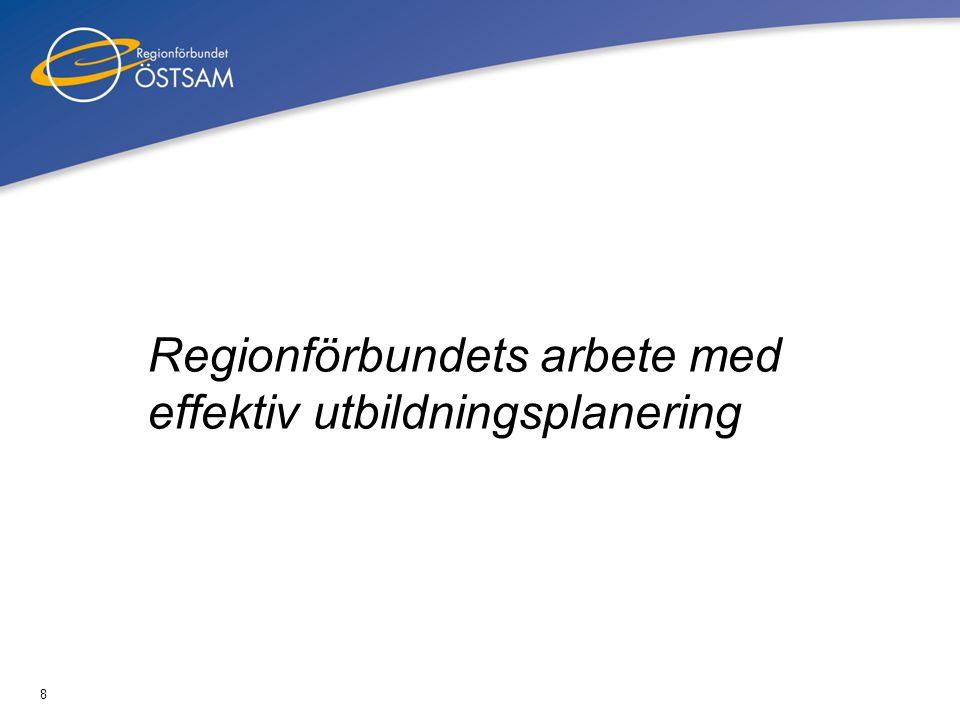 Regionförbundets arbete med effektiv utbildningsplanering