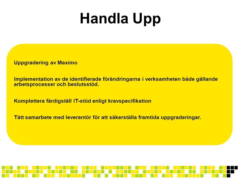 Handla Upp Uppgradering av Maximo
