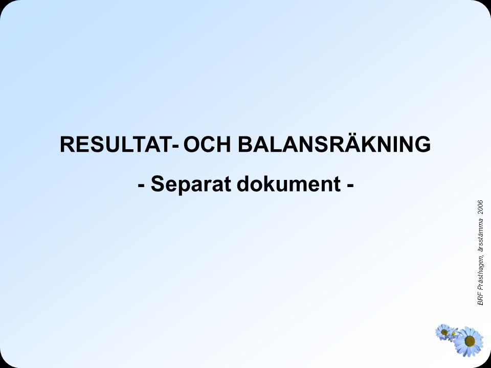 RESULTAT- OCH BALANSRÄKNING