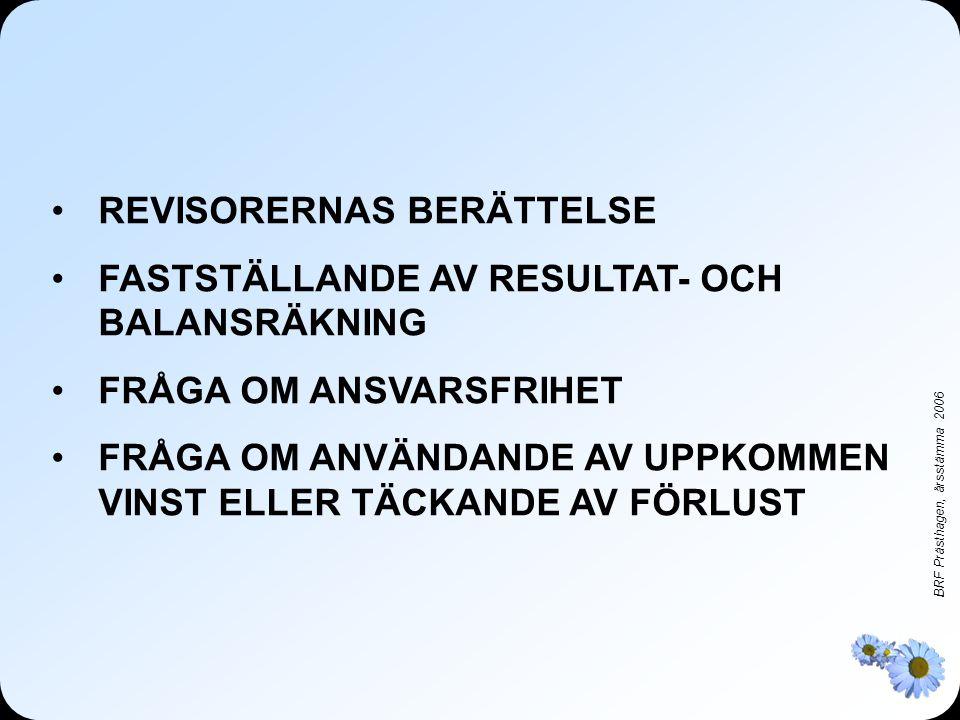 REVISORERNAS BERÄTTELSE