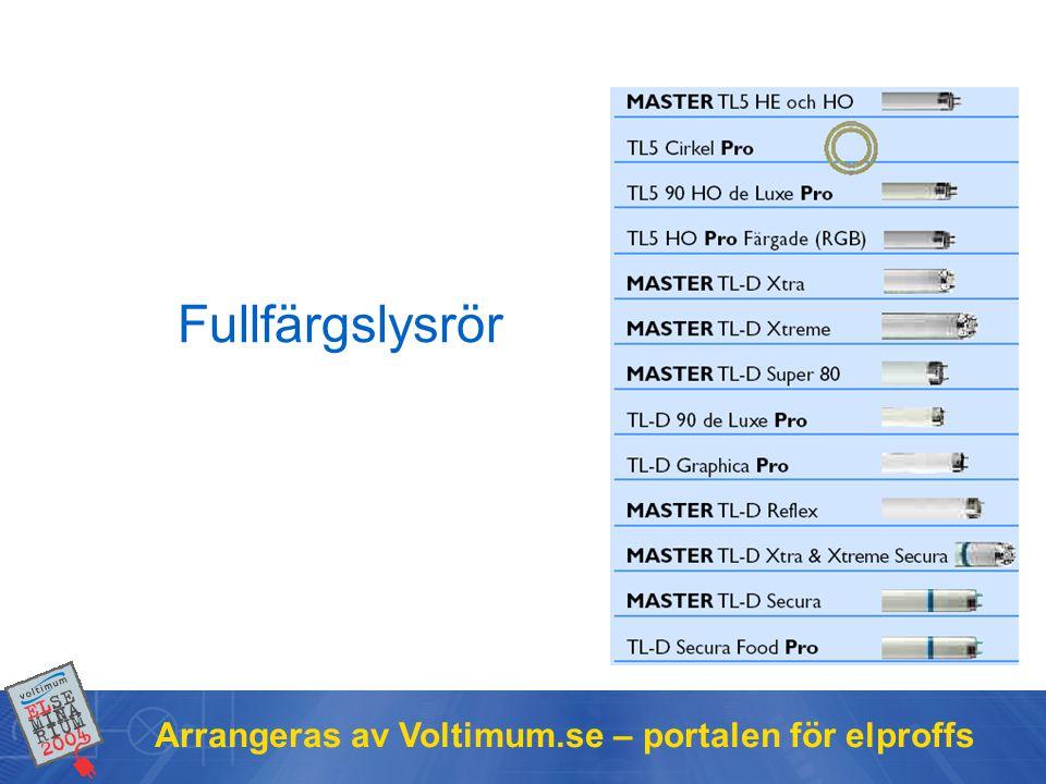 Fullfärgslysrör Arrangeras av Voltimum.se – portalen för elproffs