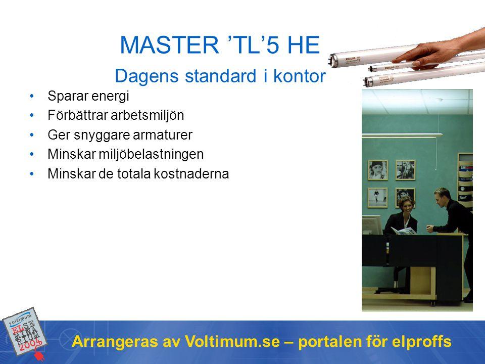 MASTER 'TL'5 HE Dagens standard i kontor