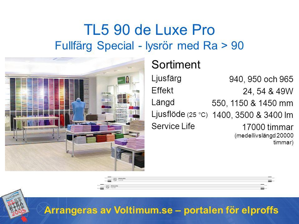TL5 90 de Luxe Pro Fullfärg Special - lysrör med Ra > 90