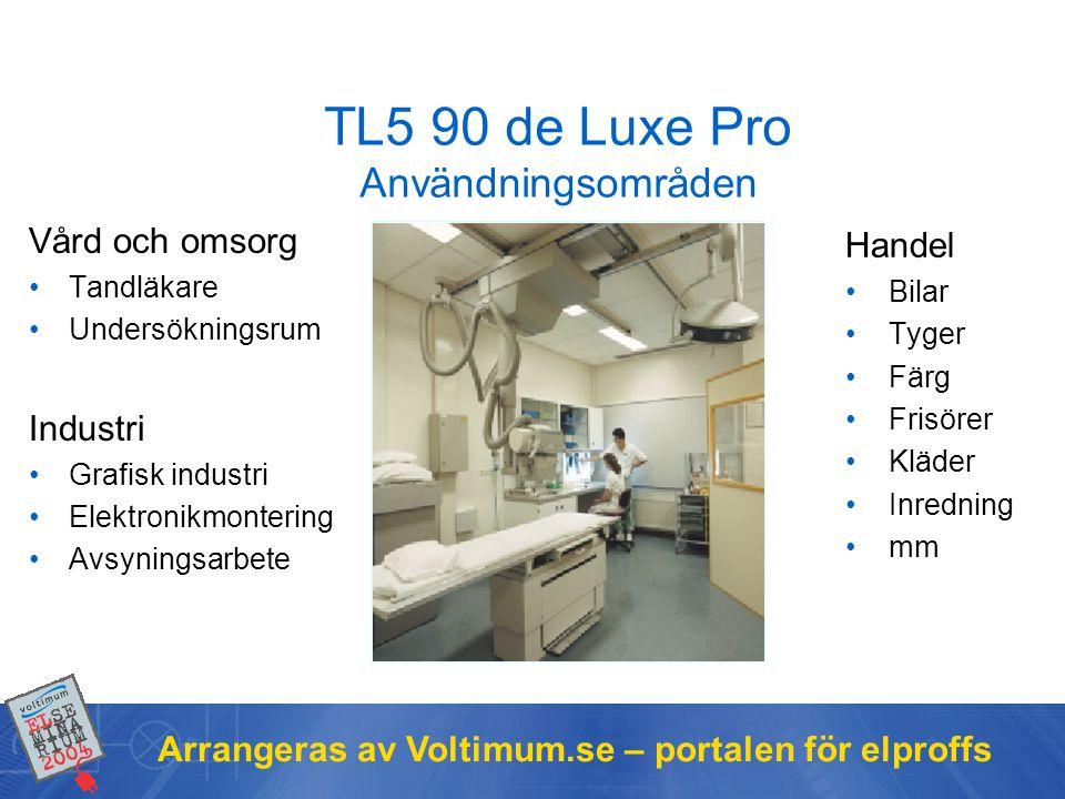 TL5 90 de Luxe Pro Användningsområden