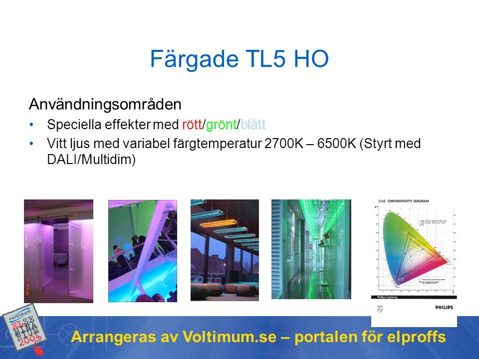 Färgade TL5 HO Användningsområden