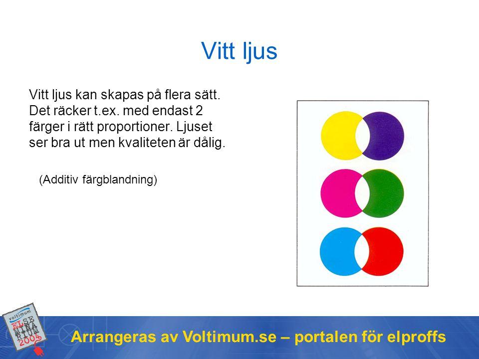 Vitt ljus Arrangeras av Voltimum.se – portalen för elproffs