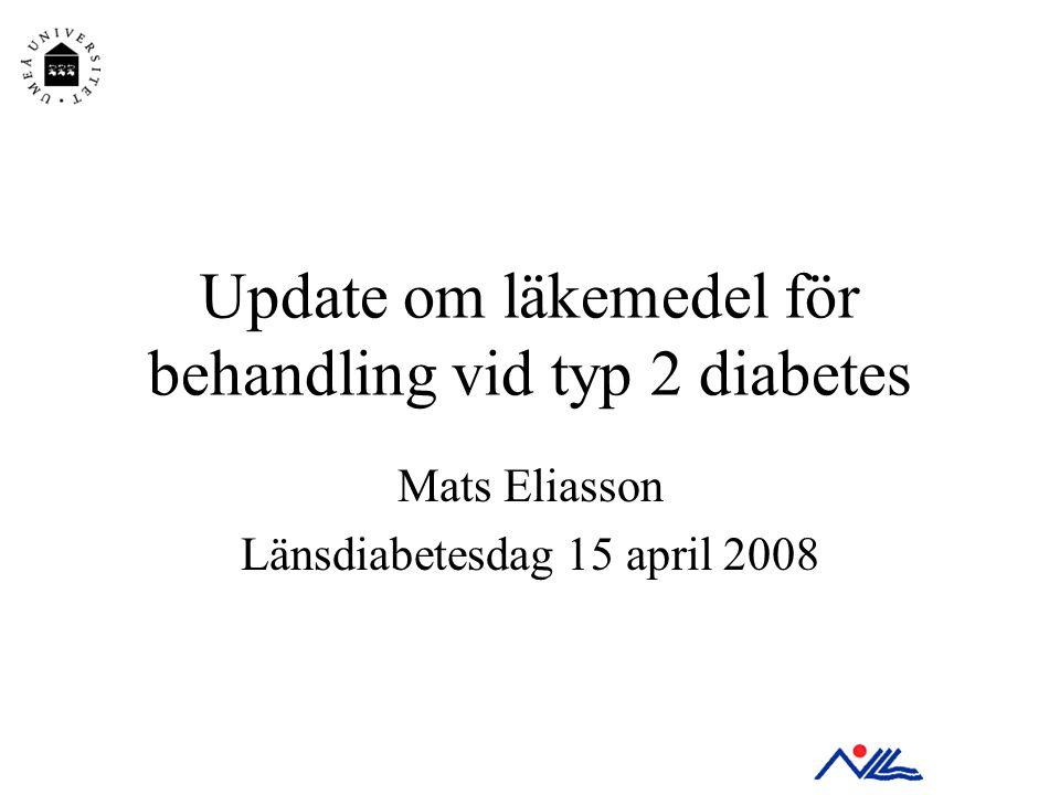 Update om läkemedel för behandling vid typ 2 diabetes