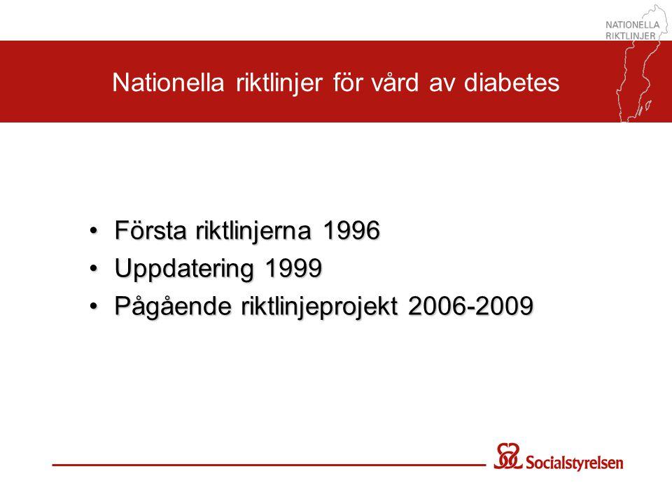 Nationella riktlinjer för vård av diabetes