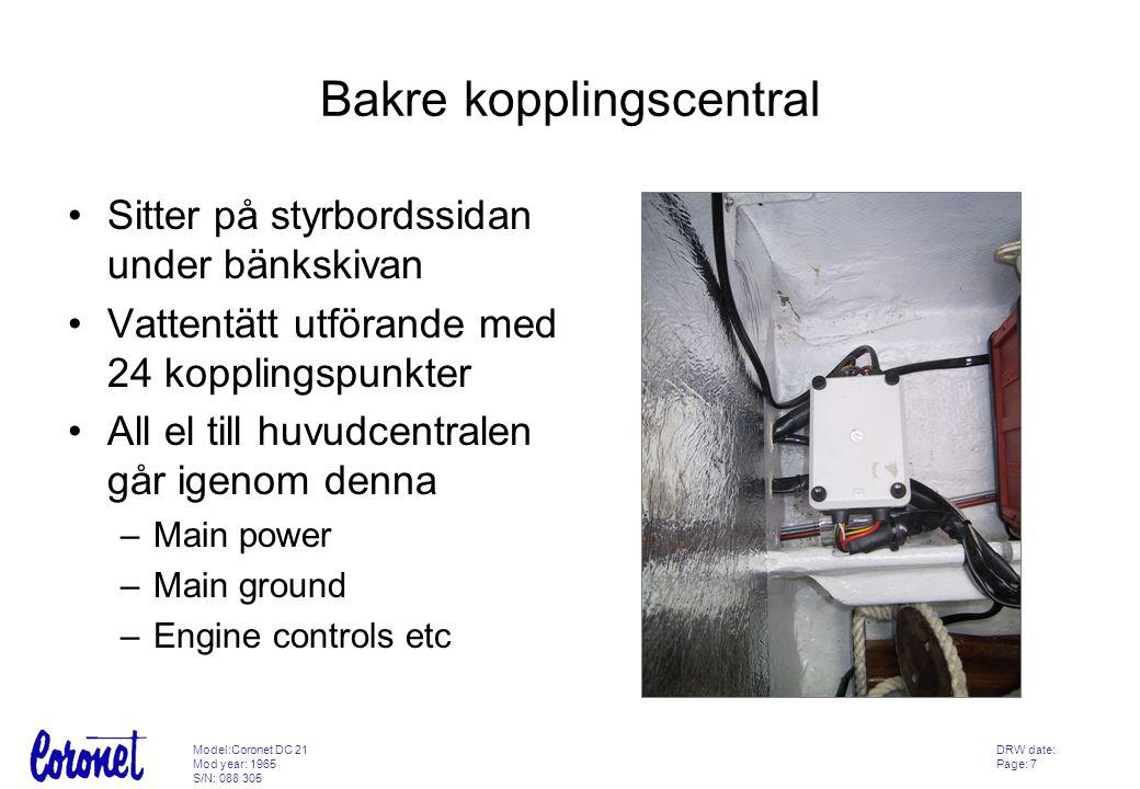 Bakre kopplingscentral