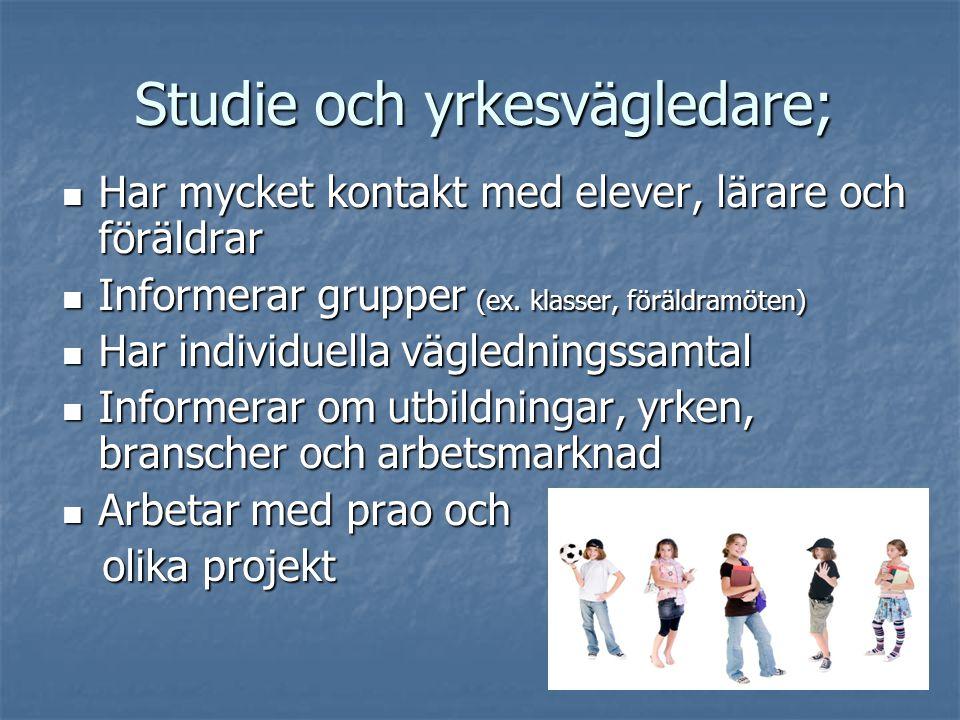 Studie och yrkesvägledare;