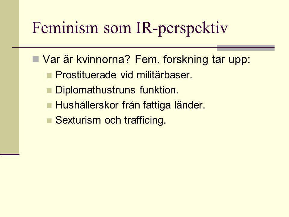 Feminism som IR-perspektiv