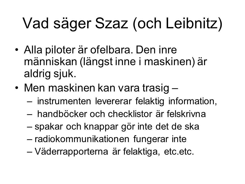 Vad säger Szaz (och Leibnitz)