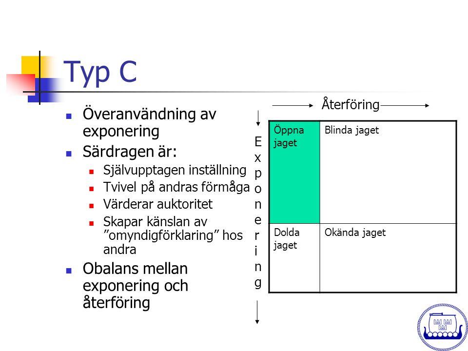 Typ C Överanvändning av exponering Särdragen är: