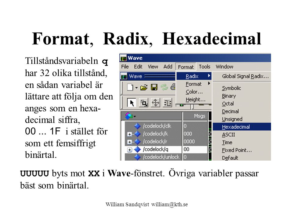 Format, Radix, Hexadecimal