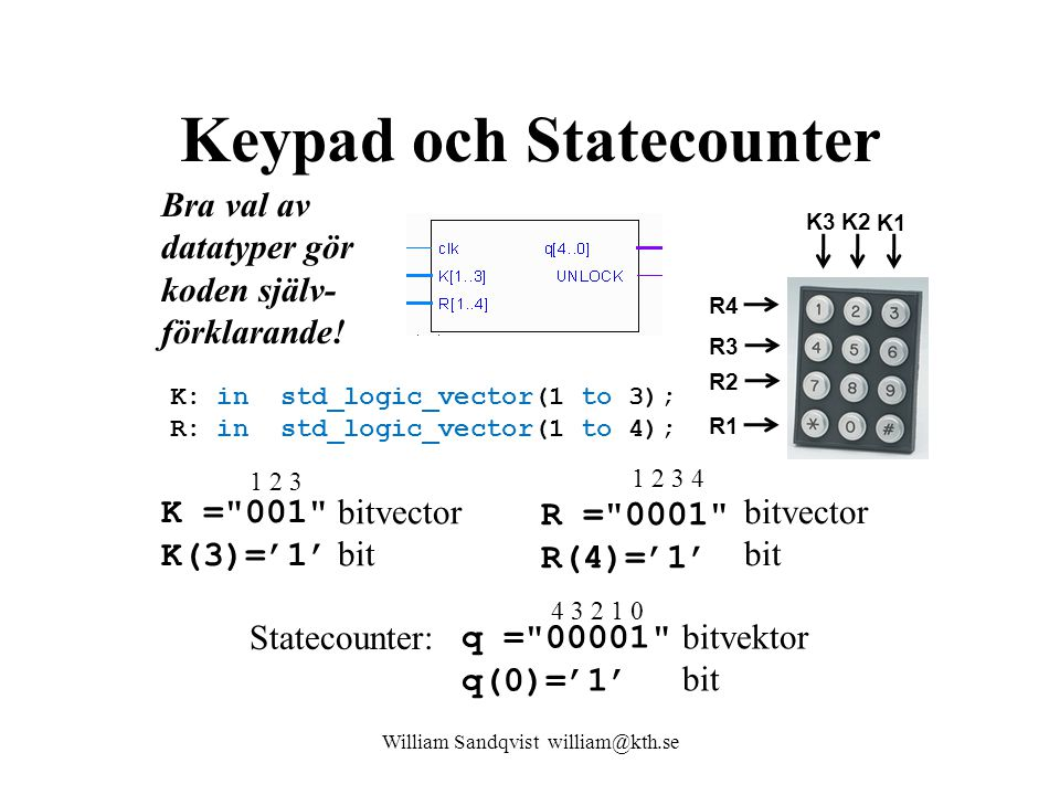 Keypad och Statecounter