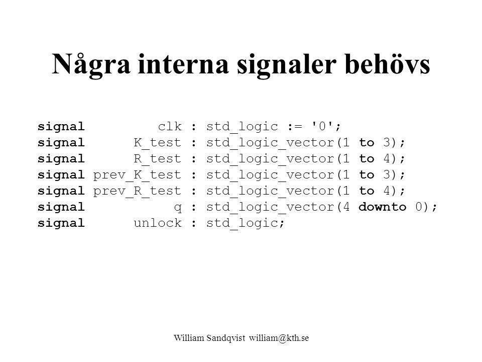 Några interna signaler behövs