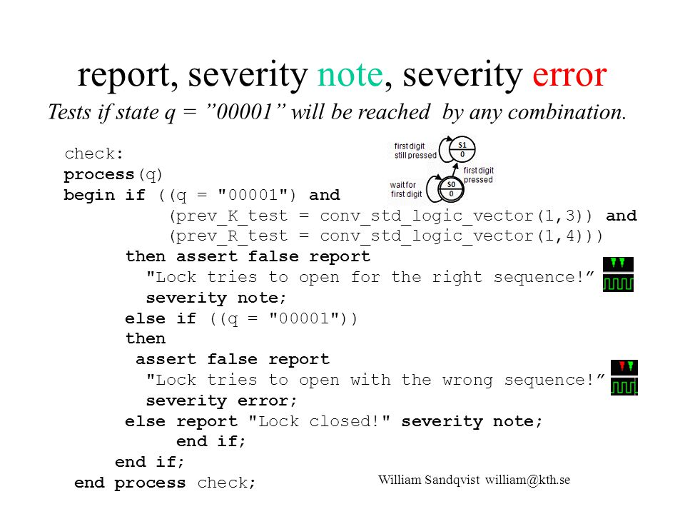 report, severity note, severity error