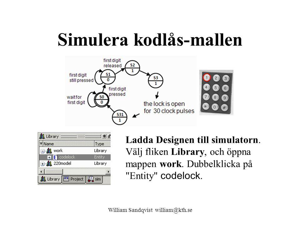 Simulera kodlås-mallen