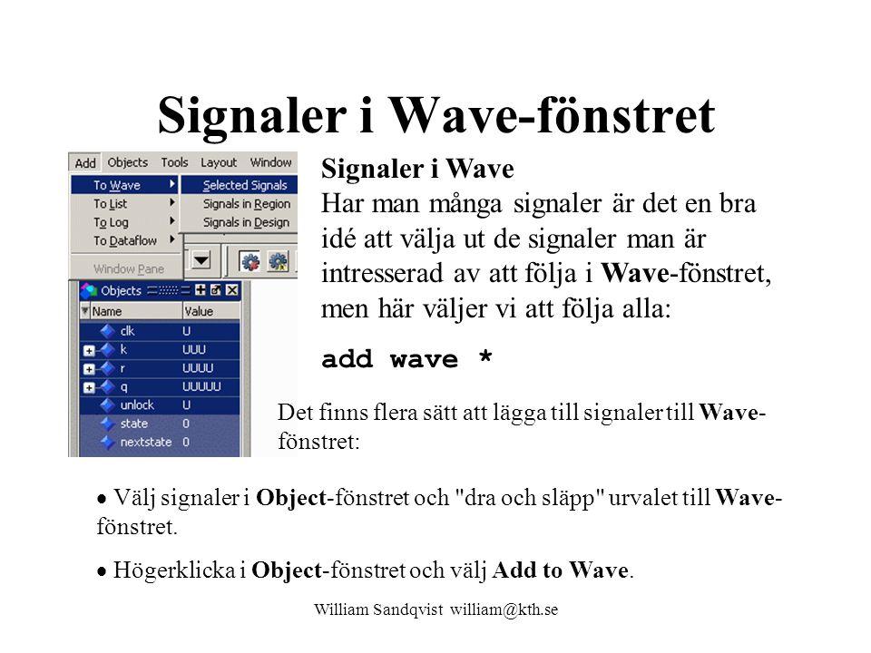 Signaler i Wave-fönstret