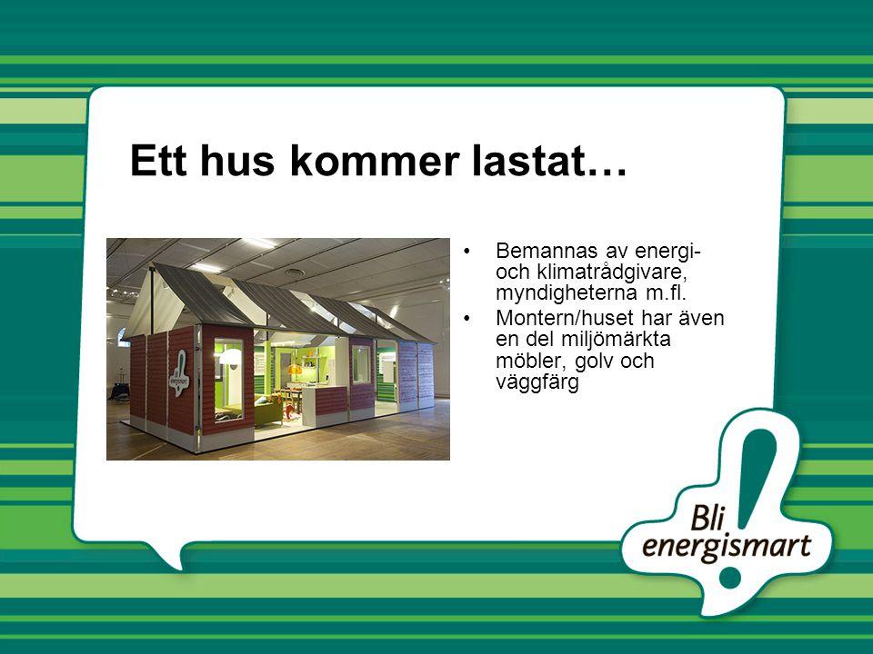 Ett hus kommer lastat… Bemannas av energi- och klimatrådgivare, myndigheterna m.fl.