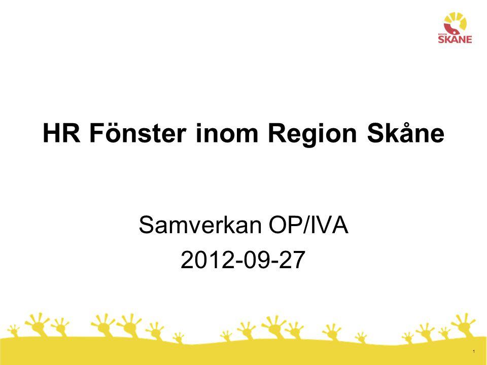 HR Fönster inom Region Skåne