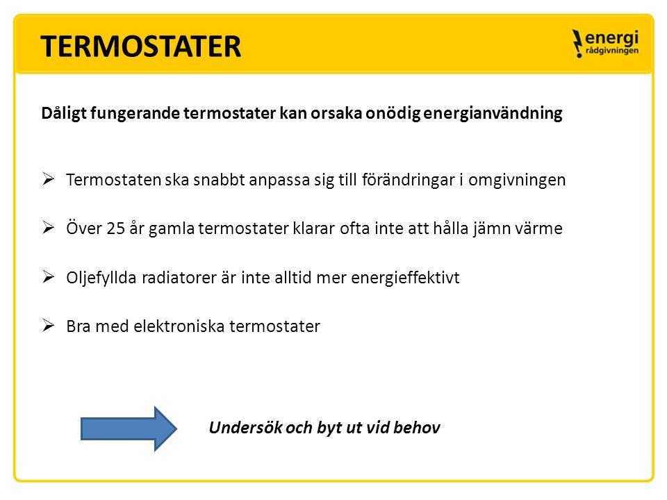 TERMOSTATER KOMPLETTERA VÄRMESYSTEMET