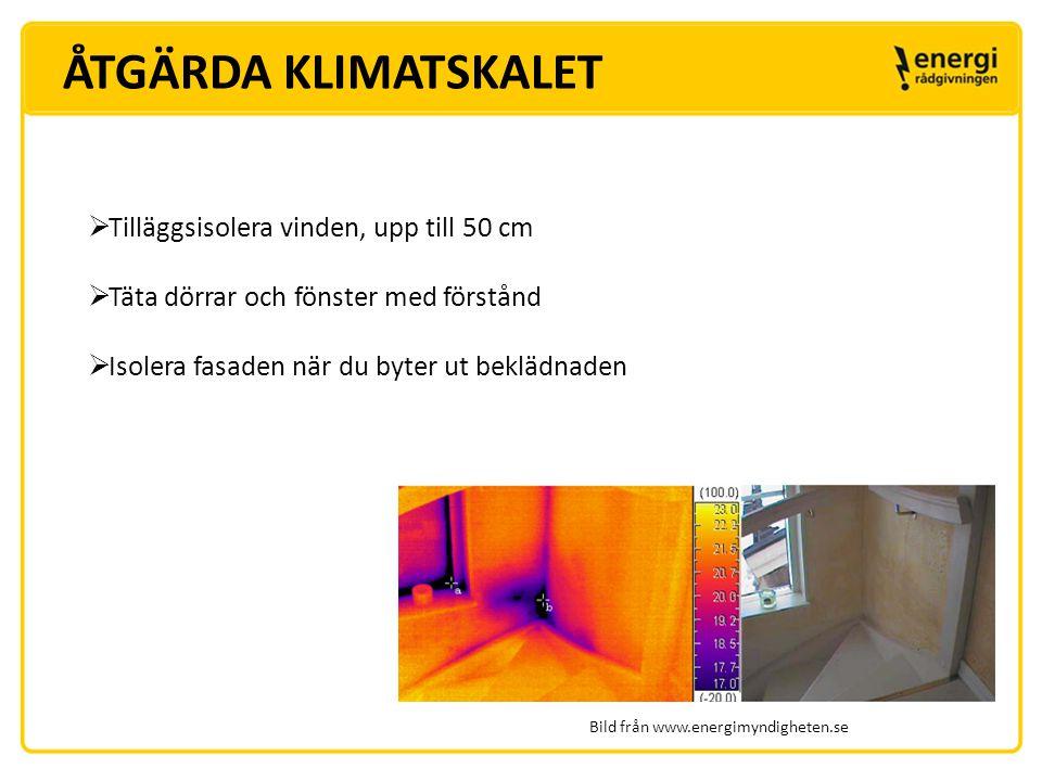 ÅTGÄRDA KLIMATSKALET Tilläggsisolera vinden, upp till 50 cm