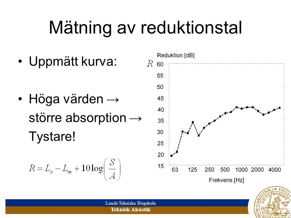 Mätning av reduktionstal