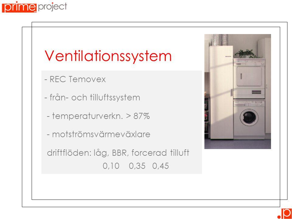Ventilationssystem - REC Temovex - från- och tilluftssystem