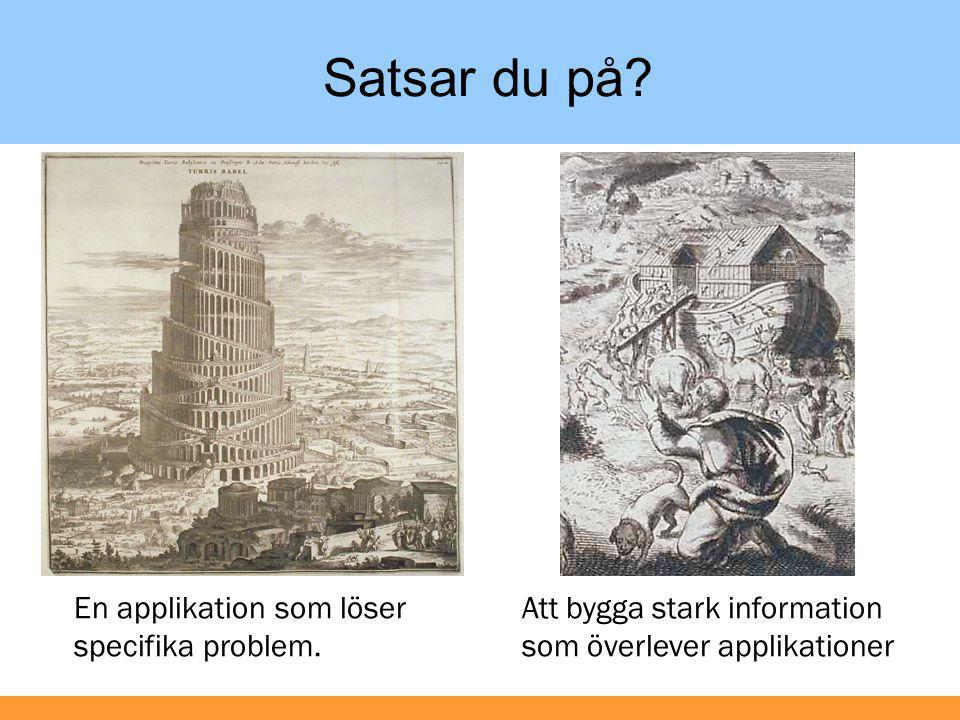 Satsar du på En applikation som löser specifika problem.