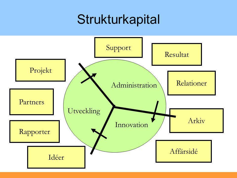 Strukturkapital Support Resultat Projekt Relationer Administration